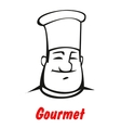 Cartoon smiling friendly chef vector image vector image