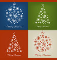 christmas trees and balls with snowflakes on vector image vector image