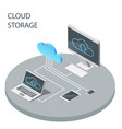 cloud computing technology cloud storage vector image vector image