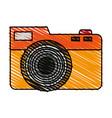 color crayon stripe analog camera with flash vector image vector image