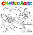 coloring book with cartoon aviator vector image