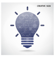 Creative light bulb and brain concept vector image vector image