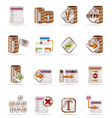 Database and table icons vector | Price: 1 Credit (USD $1)