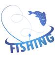 design fishing vector image