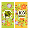 eco products vertical flyers set vector image vector image