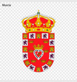 emblem of murcia city of spain vector image vector image
