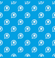 explore tooth pattern seamless blue vector image vector image