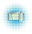 Football gate icon comics style vector image vector image