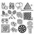 Game sketch icons vector image vector image