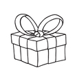 Gift box iconJingle bells with bow vector image