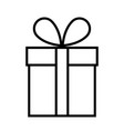 gift icon flat vector image vector image