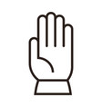 glove sign vector image vector image