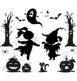Halloween black icons for kids vector | Price: 1 Credit (USD $1)