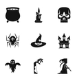 Halloween icons set simple style vector image vector image