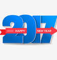 happy new year 2017 typography vector image vector image