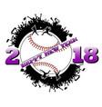 happy new year 2018 and baseball vector image