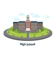 High school or university building Educational vector image vector image