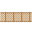 high wooden or metal wicker fence with ornament vector image