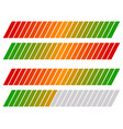 Loading bar progress-level indicator with color