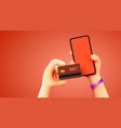 mobile banking app and e-payment hand vector image