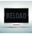 monitor code reload vector image vector image