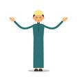 muslim prayer muslim islamic man stand and pray vector image vector image