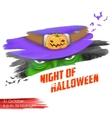 Night of Halloween vector image vector image