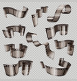 old 3d movie film strip foto slide isolated vector image