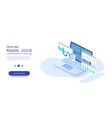 online statistics and data analyticsdigital money vector image vector image