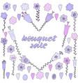 pink purple violet flowers pastel colors vector image vector image