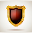 protective steel guard shield with safety glass vector image vector image