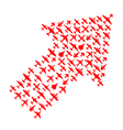 Right-top arrow of airplanes vector image vector image