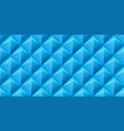 seamless background with blue soft pyramids vector image