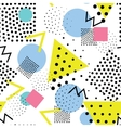 Seamless geometric pattern in retro memphis 80s vector image vector image