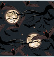 Seamless halloween pattern with flying bat
