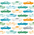 seamless pattern with image of retro cars vector image vector image