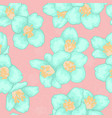 semless pattern branch blue chamomile graphic vector image vector image