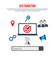 seo targeting concept search engine optimization vector image vector image