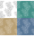 Set of seamless patterns with juniper branches vector image vector image