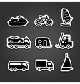 Set simple stickers transport vector | Price: 1 Credit (USD $1)