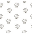 shellfish seamless pattern background vector image vector image
