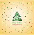 silhouette of a stroke christmas tree green color vector image
