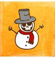 Skeleton Disguised as a Snowman Cartoon vector image