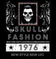 skull tee poster vector image vector image