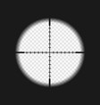 sniper sight with measurement marks vector image vector image