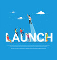 startup launch concept business vector image vector image