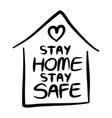 stay home safe poster designlettering vector image