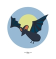 Symbol of the bat Colorfull flat vector image