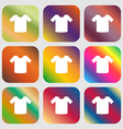 T-shirt Clothes icon Nine buttons with bright vector image