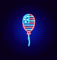 usa balloon neon sign vector image